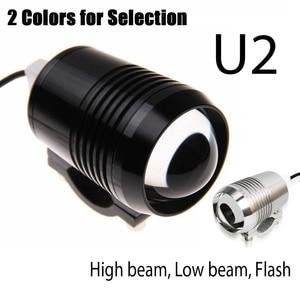 2 قطعة دراجة نارية المصباح U2 1200LM 30 W عالية منخفضة فلاش LED القيادة بقعة رئيس لمبة إضاءة مصباح المصباح الأسود الفضة