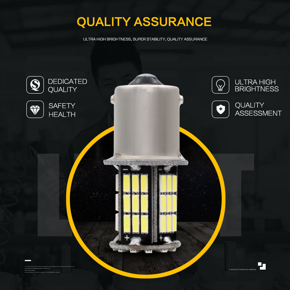 10x 12V S25 Car led p21w ba15s 1156 Light 57 led smd Ba15s 57SMD 4014 LED 1157 bay15d p21/5w bulbs