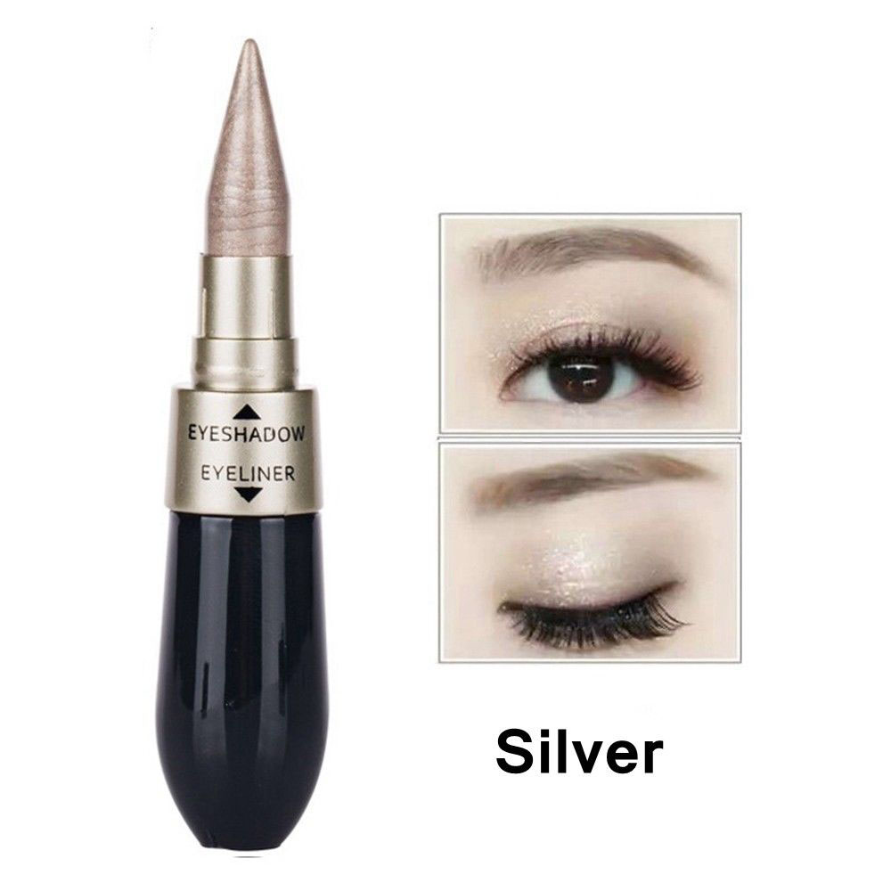 Новинка 2 в 1 тени для век подводка для глаз ручка черная жидкая подводка для глаз Карандаш блеск Тени для век двухсторонний инструмент для макияжа для глаз - Цвет: 06