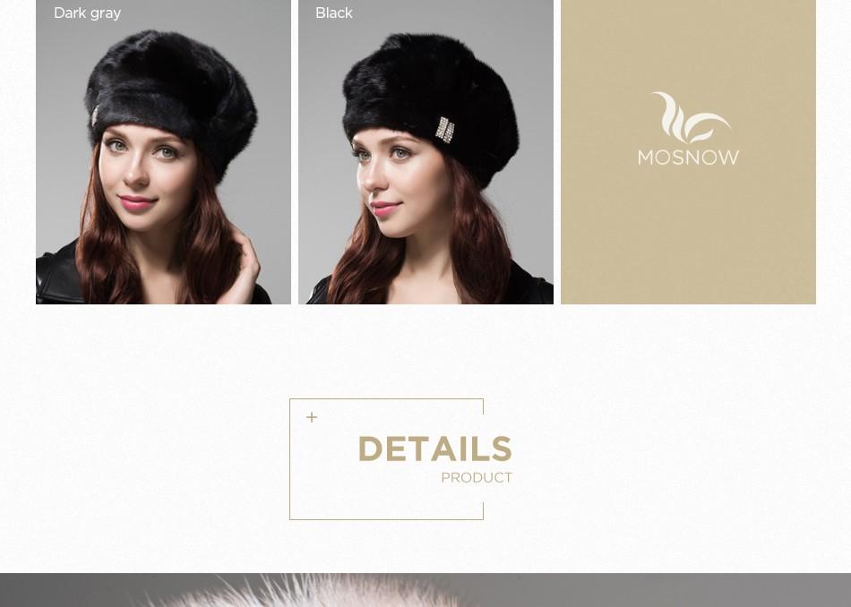 mink fur hat female winter PCM027 (5)