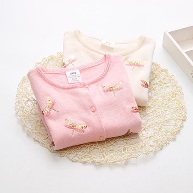 Nova Chegada de Alta Qualidade 2017 Crianças Camisola criança cardigan cor sólida camisola básica camisa primavera meninas casaco camisola de malha
