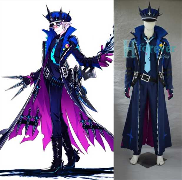 Elsword Halloween 2020 Picture Differences Customized] 2018 Game ELSWORD Lu Ciel Battle Uniform Cosplay