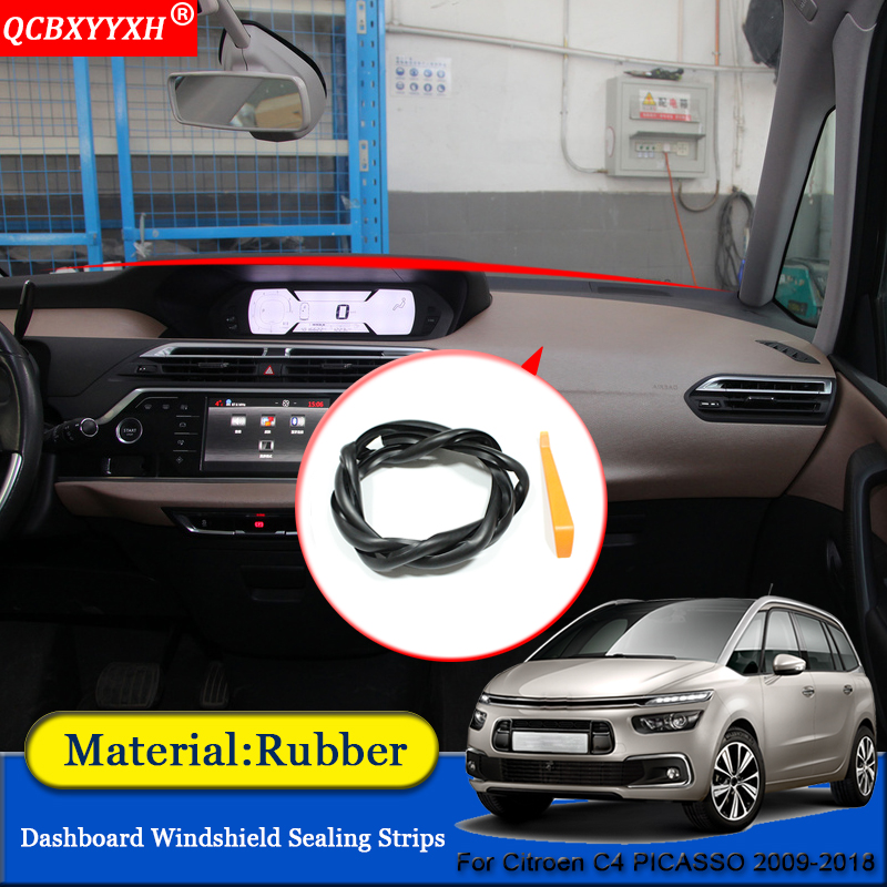 Car-styling Anti-Noise Soundproof Dustproof Car Dashboard Windshield Sealing Strips Accessories For Citroen C4 PICASSO 2009-2018