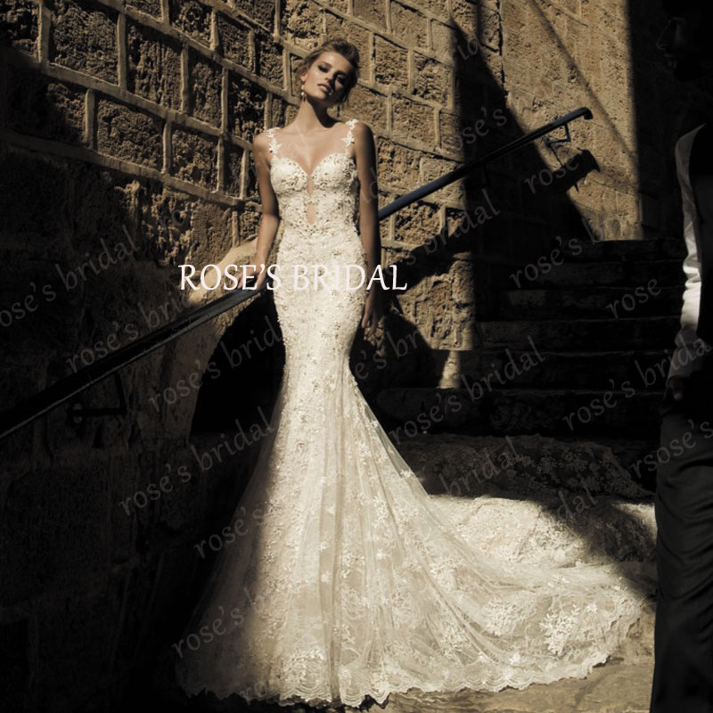 Backless Long Tail Mermaid Lace Wedding Dress Online Shop China Boda