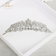 New Sparkling Brides Star Crystal Tiaras Crowns Gold Wedding Hairbands Evening Hair Accessories Evening Hair Jewelry