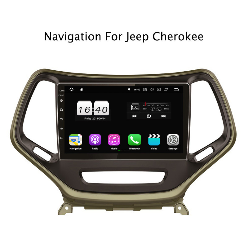 "10.1"" 2G RAM 16G ROM Android 8.1 Car DVD Multimedia Player For Jeep Cherokee 2014-2017,Black GPS Navigation Radio Stereo Audio"