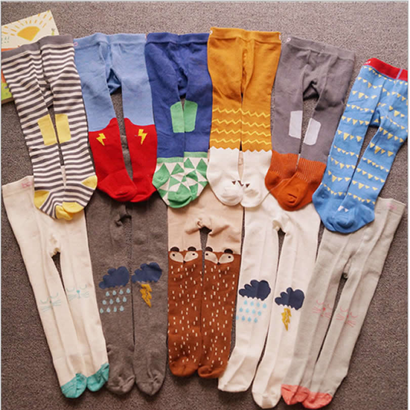 New Baby Pantyhose Boys/girl's Pure Cotton Tights Cute Spring/autumn Children's Stockings 0-3 Years Toddler Tights Beikinyuans