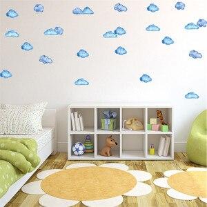 Image 2 - Adhesivos de pared creativos móviles, con decoración de nubes y cielo azul, decoración de ventanas para paredes