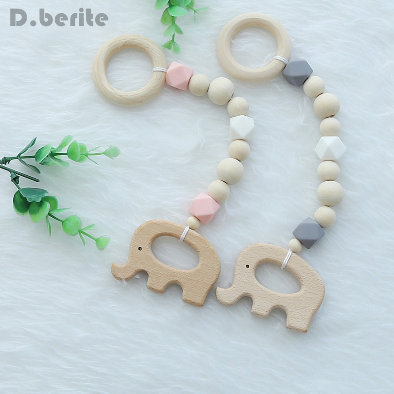 Temperate Wood Room Nursery Ins Nordic Style Wooden Beads Ornament Kids Toys For Baby Elephant Bird Shaped Tent Cute Decor Gpd8562 Nourishing Blood And Adjusting Spirit Mother & Kids Pacifiers Leashes & Cases