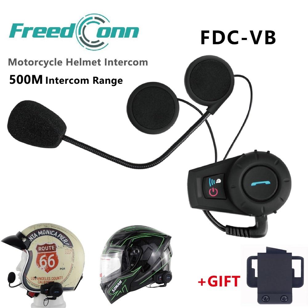 Affranchi 500 m Moto Interphone casque Moto Interphone casque Bluetooth Interphone sport casque Kits FM Radio FDC-VB