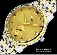 Business Design Men Simple Fashion 2 And Half Hands Business Watches Self Wind Mechanical Full Steel
