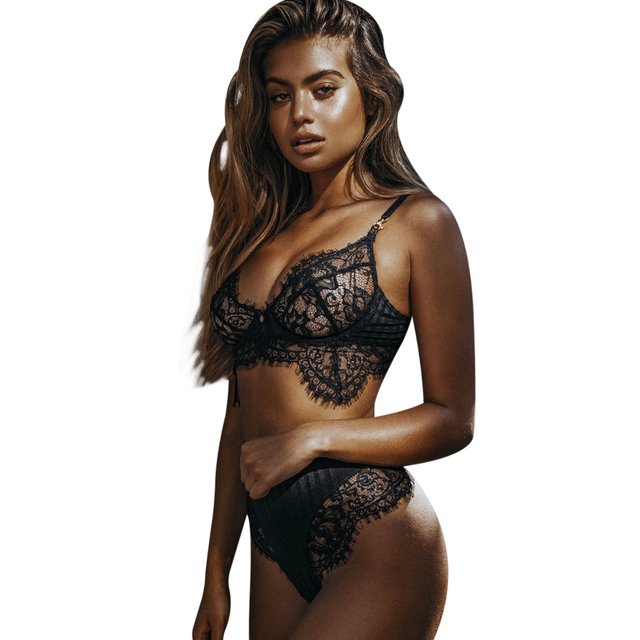 Women Sexy Lingerie Set Exotic Hot Erotic Bra Underwear Teddies Bodysuit  Ladies Lace See Through Apparel Body Suits Rompers 0dfe7050d