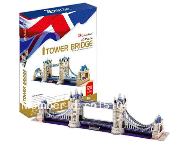 Tower Bridge CubicFun 3D educational puzzle Paper & EPS Model Papercraft Home Adornment for christmas birthday gift series s 3d puzzle paper diy papercraft double decker bus eiffel tower titanic tower bridge empire state building