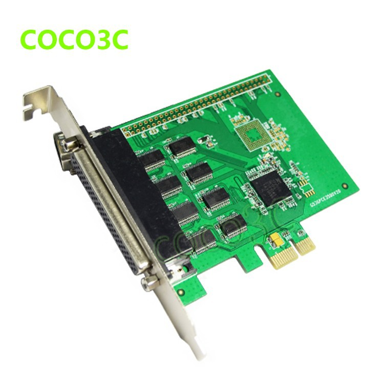8 Ports Serial PCI Express with fan out cable PCI-e to multi RS232 DB9 Ports converter Industrial IO card 1