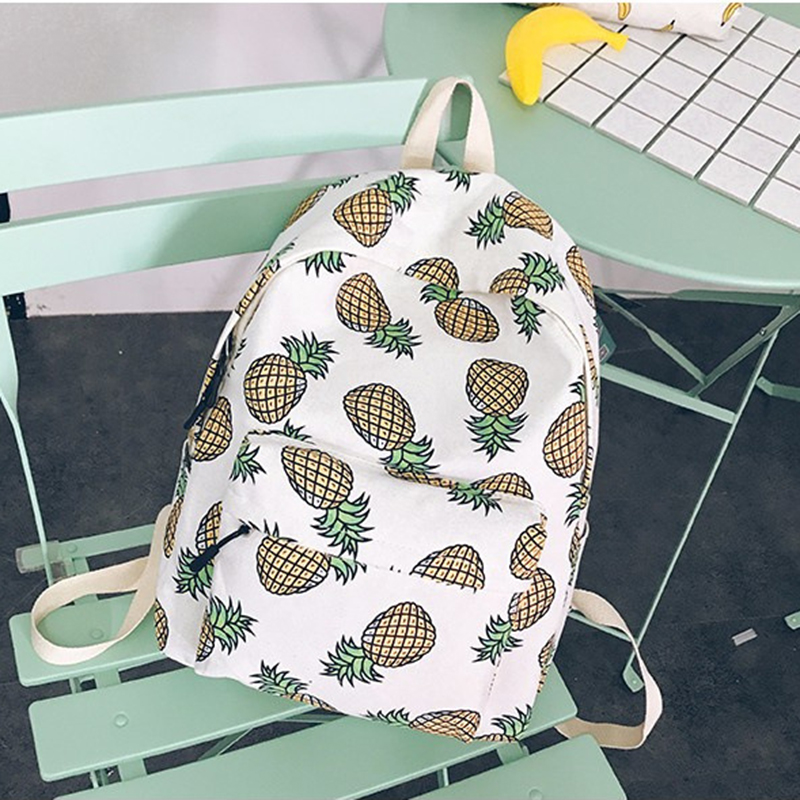 2017 Women Backpack For School Teenagers Girls Boys Bags Pineapple Cute back pack Canvas Printing Backpacks Travel Mochila FI tropical doodle 3d printing mini backpack women mochila masculina who cares new canvas backpacks for teenagers girls school bags