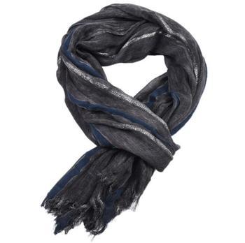 2019 European Unisex Style Winter Scarf Cotton Wrinkle Stripe long men's scarves shawl fashion gold glitter men scarf