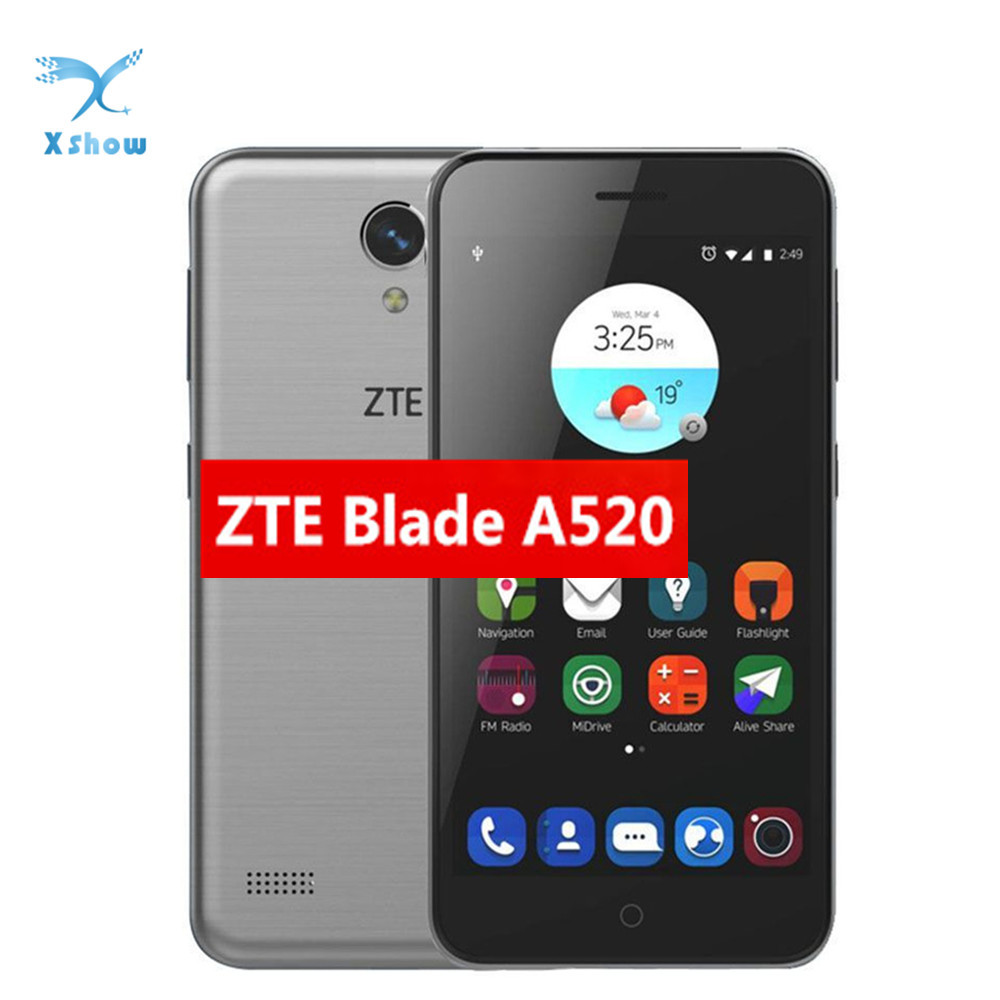 ZTE Blade A520 Mobile Phone MTK6735 1GB RAM 8GB ROM 5 0 Dual SIM Front Back