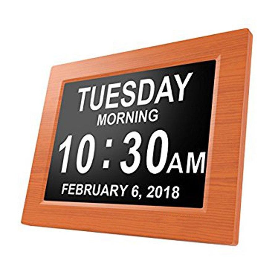 Digital Calendar Day Clock Electronic Extra Large Alarm