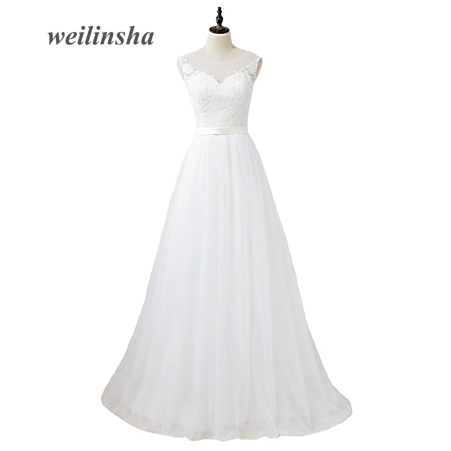 ADLN 2017 Pakaian Perkahwinan Cloze Murah Tulle Cap Sleeve A-line - Pakaian perkahwinan