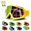 Yellow frame Tinted UV motocross goggles Motorcycle goggles Bike Cross Country Flexible
