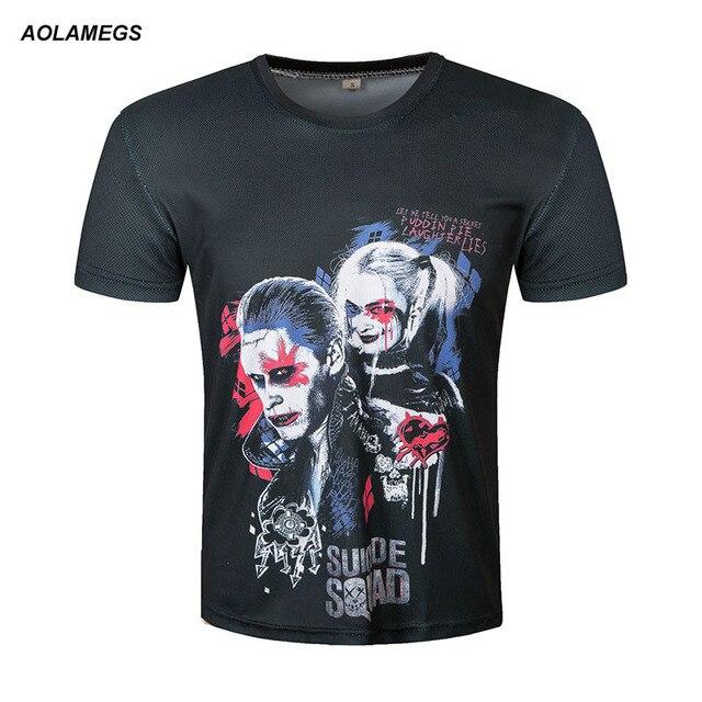 Aolamegs Hommes Femmes 3D t-shirt Harley Quinn Joker Imprimé T-shirts 2017  Rock