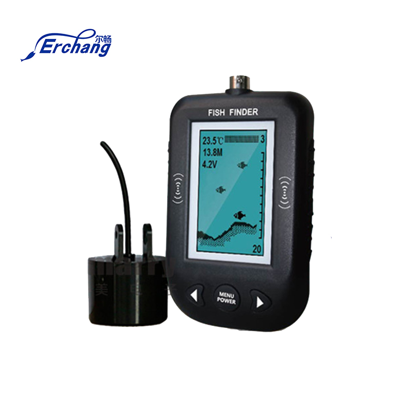 цена на Erchang Portable Fish Finder Sonar Sounder Alarm Transducer 100M For Deeper Sea Ice Fishing Sonar Fish finder with En/RU Display