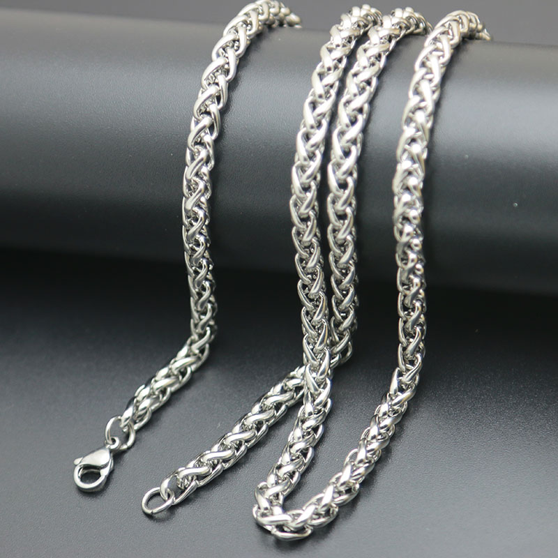316L Stainless Steel 4mm Lanterns Necklace Chain For women men locket pendant