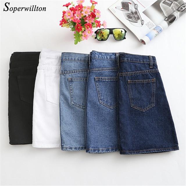 1f9f3662e2 High Waist Denim Skirt 2019 Spring Summer A Line Short Jeans Skirt Women  Large Size Blue Black Casual Skirts Womens Sun Skirt