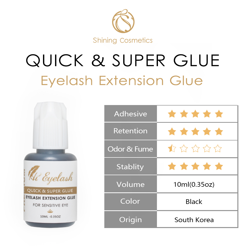 10ML Hieyelash1Second Fast Drying Professional Eyelash Extension Super Glue and 10ML 3 4Seconds Eyelash Extension Super Glue in Eyelash Glue from Beauty Health