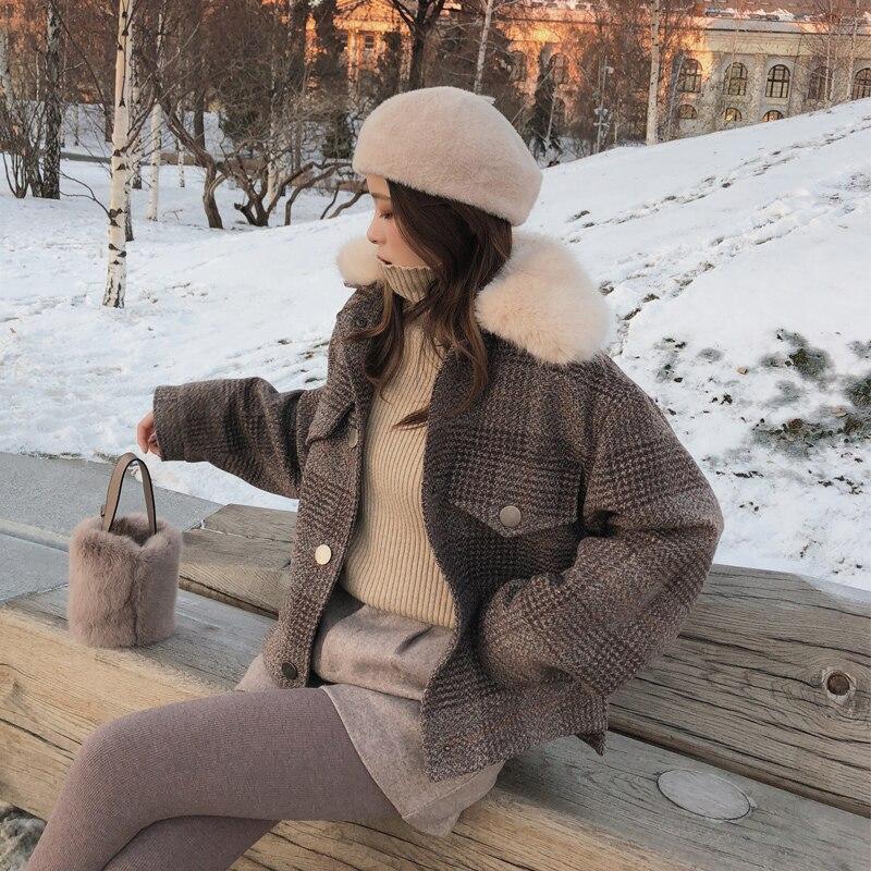 Mishow 2018 Women New winter clothing thicken woolen jacket female Korean version of the short loose