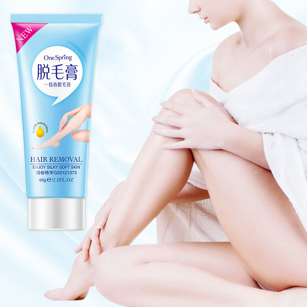 Hair Removal Cream Legs Armpit Hair Removal Gel Pianless Body Hair Removal Cream Effective 60g Longlasting Skin Care Set TSLM2 image