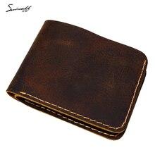 Smirnoff Genuine Leather Men Wallet for Rouble Handmade Slim Thin Custom Name