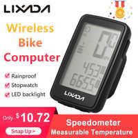 Lixada Wireless bike Computer Speedometer Multifunction Cycling Waterproof bicycle MeasurableTemperature MTB road bike Odometer