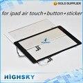 Замена жк-стекло с шлейфом 5-й для Ipad Air 5 сенсорный дигитайзер + наклейка + home button + инструменты 1 шт. бесплатная доставка