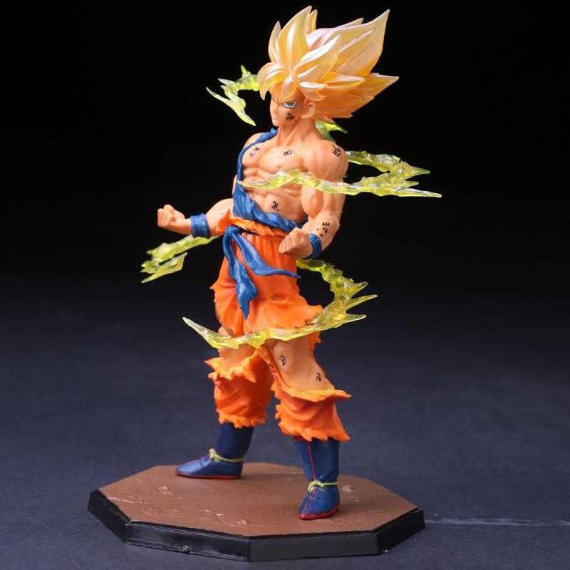 17cm Dragon Ball Z Goku Fighers Action Figure PVC Collection Model toys Christmas Super Saiyan Rose Toys