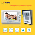 wired outdoor unit waterproof Video doorphone indoor unit 7 Inch TFT LCD Monitor and Video Intercom System for home security