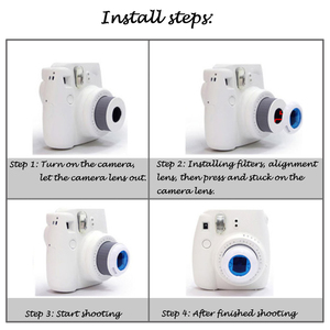 Image 4 - Gosear 6Pcs Colorful Camcorder Close up Colored Lens Filter for Fujifilm Instax Mini 9 8 8 7S KT Instant Film Cameras