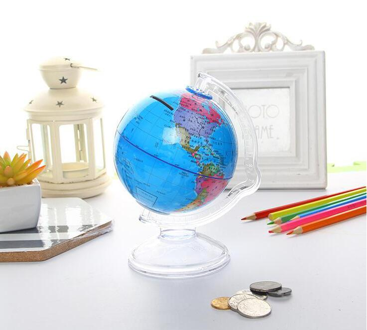 Globe piggy bank geography teaching student coin bank small gift cute decoration creative gift