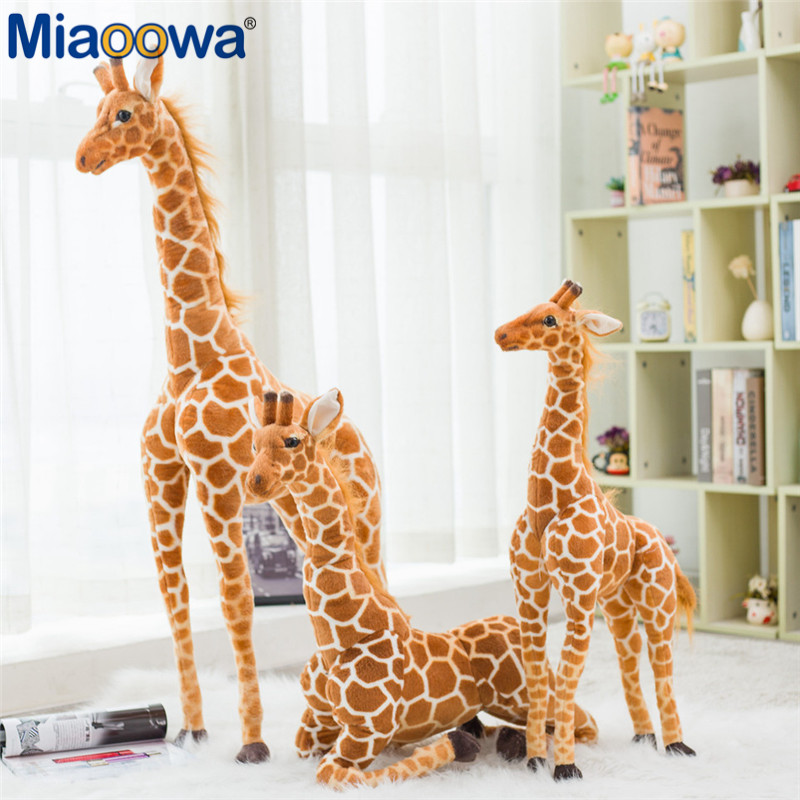 1pc 35-140cm Big Simulation Giraffe Plush Toys Cute Stuffed Animal Dolls Soft Animal Doll High Quality Birthday Gift Kids Toys