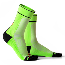 Cycling Socks Men Athletic Fluorescent Green Riding Jogger Gym Running Soccer Sport Wear Thick Bike 2 pairs/lot
