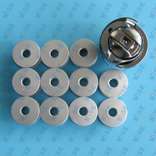 BOBBINS & BOBBIN CASES & ROTARY HOOK 14 PCS PART SET FOR JUKI 5550 with UNDERTRIMMER
