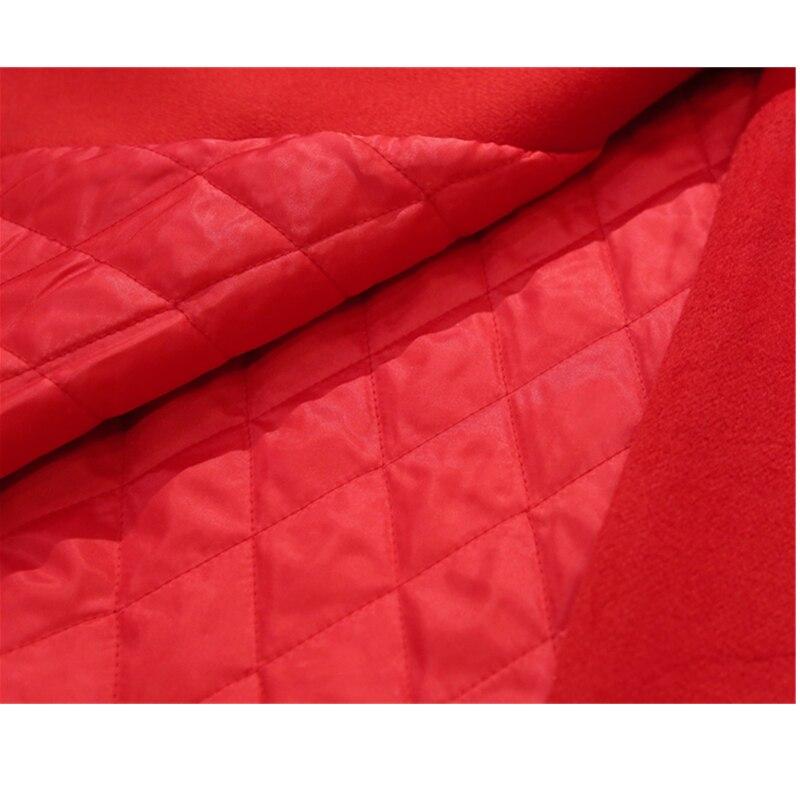 Moyen Longues Épaissir Chaud Manteau De Nouveau Lâche Long gray Qualité 2019 armygreen A2111 Manches Femmes Mode Hiver Femelle red Haute À Veste orange Laine Black wqTXaz8x
