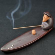 Antique Incense Burner Holder Stick Refoulement Meditation Porcelain Geurbrander Crockery Budha Decoracion Backform Zen 60KOB07