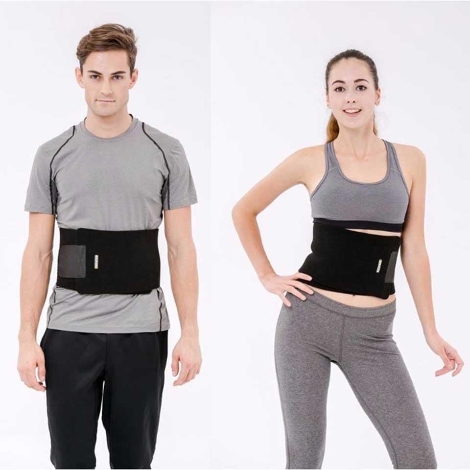 New Men Abdominal Shaper Binder Belt Waist Trimmer Exercise Wrap Belt one Size Black Slimming Belt Free Shipping