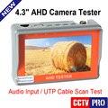 New CCTV 1080 P 720 P AHD Câmera Tester 4.3-polegadas LCD Analógica de Vídeo de Teste 12 V/5 V Cabo De Saída De Energia AHD CCTV Tester