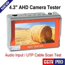Nueva Cámara CCTV 1080 P 720 P AHD Analógica Probador de LCD de 4.3 pulgadas Video de Prueba 12 V/5 V Cable De Salida De Alimentación AHD CCTV Tester