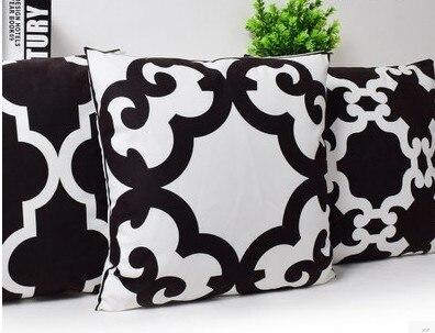 Ufficio Divano Nero : Stampa in bianco e nero ufficio divano cuscino per appoggiato allo