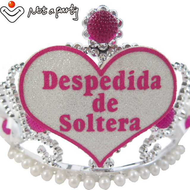 Wedding Events Spanish Word Bachelorette Party Tiara Bride To Be Accessories Pearl Diamond Hen Nights Mariage
