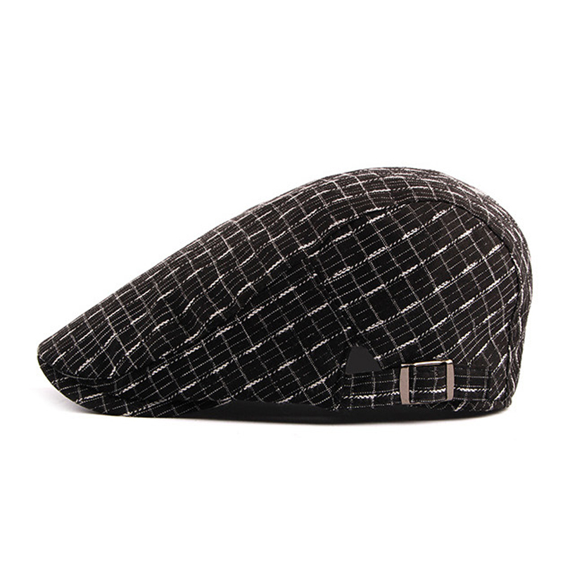 df8160f81d1 Details about  AKIZON  2018 New Cotton Berets Caps Vintage Plaid Beret Hats  for Men Women