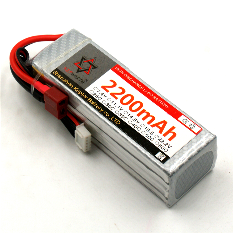 Lipo Battery 4s <font><b>14.8v</b></font> <font><b>2200mAh</b></font> 35c Li-Polymer Battery For RC Car Plane Boat Helicopter Airplane Truck Tank image